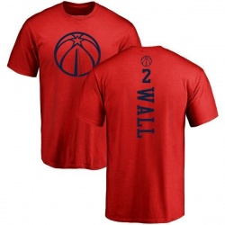 Youth John Wall Washington Wizards Red One Color Backer T-Shirt