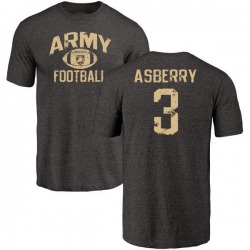 Youth Jordan Asberry Army Black Knights Distressed Football Tri-Blend T-Shirt - Black