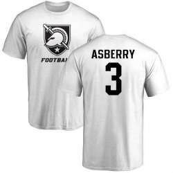 Youth Jordan Asberry Army Black Knights One Color T-Shirt - White