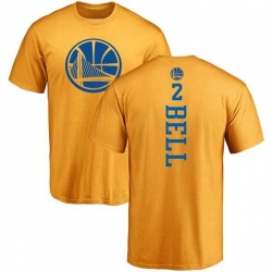 Youth Jordan Bell Golden State Warriors Gold One Color Backer T-Shirt