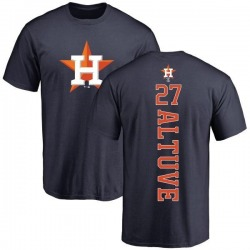 Youth Jose Altuve Houston Astros Backer T-Shirt - Navy