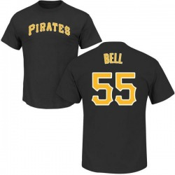 Youth Josh Bell Pittsburgh Pirates Roster Name & Number T-Shirt - Black