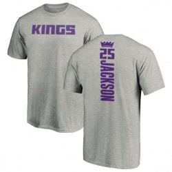 Youth Justin Jackson Sacramento Kings Ash Backer T-Shirt