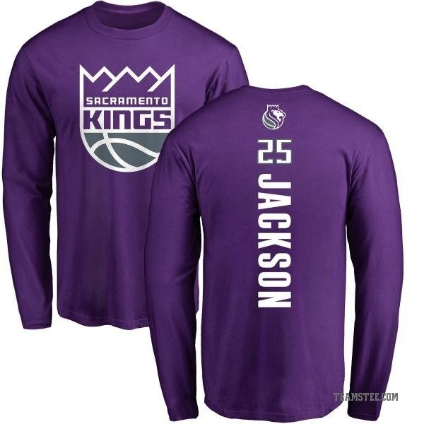 100% authentic 66e3d 3744d Youth Justin Jackson Sacramento Kings Purple Backer Long Sleeve T-Shirt -  Teams Tee
