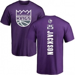 Youth Justin Jackson Sacramento Kings Purple Backer T-Shirt