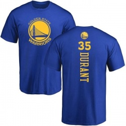 Youth Kevin Durant Golden State Warriors Royal Backer T-Shirt