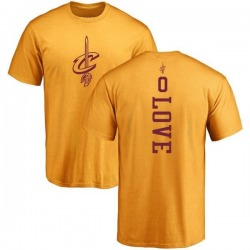 Youth Kevin Love Cleveland Cavaliers Gold One Color Backer T-Shirt