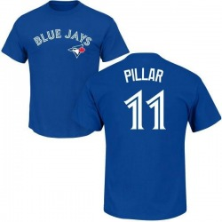 Youth Kevin Pillar Toronto Blue Jays Roster Name & Number T-Shirt - Royal