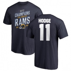 Youth KhaDarel Hodge Los Angeles Rams 2018 NFC Champions Navy T-Shirt