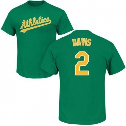 Youth Khris Davis Oakland Athletics Roster Name & Number T-Shirt - Green