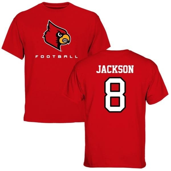newest collection 2de17 fc2ea Youth Lamar Jackson Louisville Cardinals Football T-Shirt - Red - Teams Tee