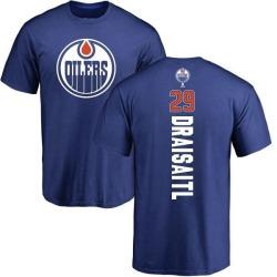 Youth Leon Draisaitl Edmonton Oilers Backer T-Shirt - Royal