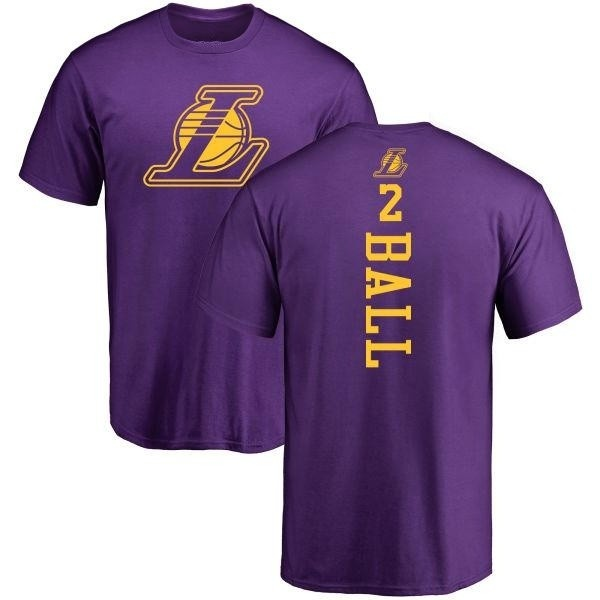 uk availability e5a76 926ae Youth Lonzo Ball Los Angeles Lakers Purple One Color Backer T-Shirt - Teams  Tee