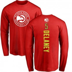 Youth Malcolm Delaney Atlanta Hawks Red Backer Long Sleeve T-Shirt