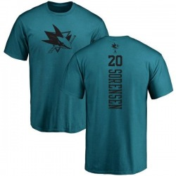 Youth Marcus Sorensen San Jose Sharks One Color Backer T-Shirt - Teal