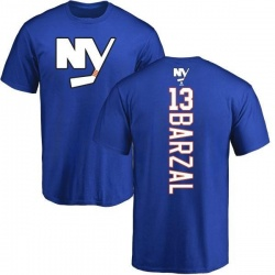 Youth Mathew Barzal New York Islanders Backer T-Shirt - Royal