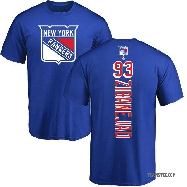 outlet store 11a3d 0ac9a Youth Mika Zibanejad New York Rangers Backer T-Shirt - Royal - Teams Tee