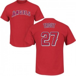 Youth Mike Trout Los Angeles Angels Roster Name & Number T-Shirt - Red