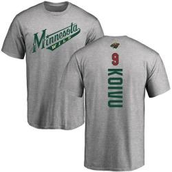 Youth Mikko Koivu Minnesota Wild Backer T-Shirt - Ash