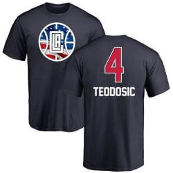 Youth Milos Teodosic Los Angeles Clippers Navy Name and Number Banner Wave T-Shirt