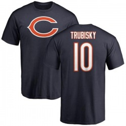Youth Mitchell Trubisky Chicago Bears Name & Number Logo T-Shirt - Navy