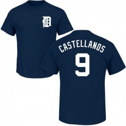 Youth Nicholas Castellanos Detroit Tigers Roster Name & Number T-Shirt - Navy