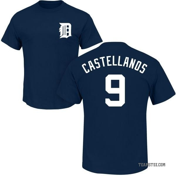 new arrivals bd808 28afc Youth Nicholas Castellanos Detroit Tigers Roster Name & Number T-Shirt -  Navy - Teams Tee