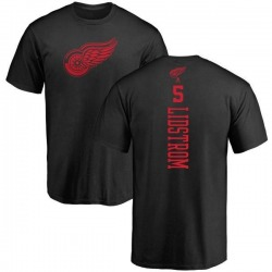 Youth Nicklas Lidstrom Detroit Red Wings One Color Backer T-Shirt - Black