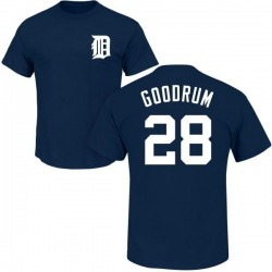 Youth Niko Goodrum Detroit Tigers Roster Name & Number T-Shirt - Navy