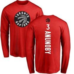 Youth OG Anunoby Toronto Raptors Red Backer Long Sleeve T-Shirt