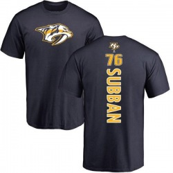 Youth P.K. Subban Nashville Predators Backer T-Shirt - Navy