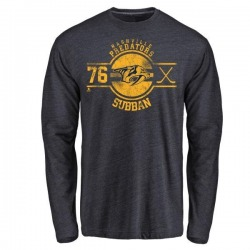 Youth P.K. Subban Nashville Predators Insignia Tri-Blend Long Sleeve T-Shirt - Navy