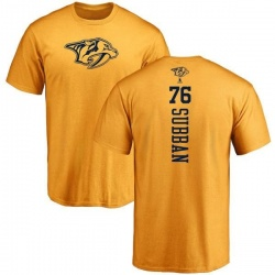 Youth P.K. Subban Nashville Predators One Color Backer T-Shirt - Gold