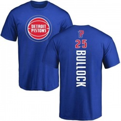 Youth Reggie Bullock Detroit Pistons Royal Backer T-Shirt
