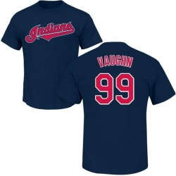 Youth Ricky Vaughn Cleveland Indians Roster Name & Number T-Shirt - Navy