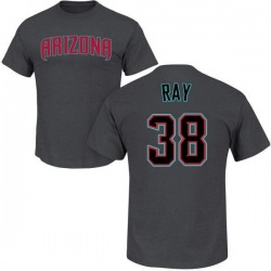 Youth Robbie Ray Arizona Diamondbacks Roster Name & Number T-Shirt - Charcoal