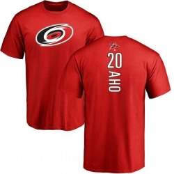Youth Sebastian Aho Carolina Hurricanes Backer T-Shirt - Red