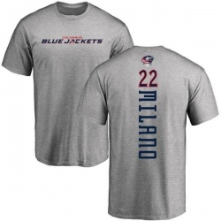 Youth Sonny Milano Columbus Blue Jackets Backer T-Shirt - Ash