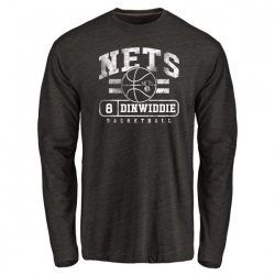 Youth Spencer Dinwiddie Brooklyn Nets Black Baseline Tri-Blend Long Sleeve T-Shirt