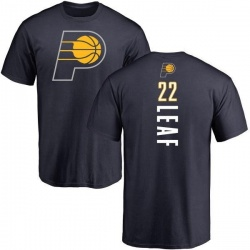 Youth TJ Leaf Indiana Pacers Navy Backer T-Shirt