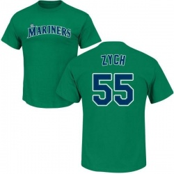 Youth Tony Zych Seattle Mariners Roster Name & Number T-Shirt - Green