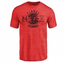 Youth Travis Hamonic Calgary Flames Insignia Tri-Blend T-Shirt - Red