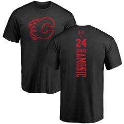 Youth Travis Hamonic Calgary Flames One Color Backer T-Shirt - Black
