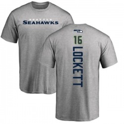 Youth Tyler Lockett Seattle Seahawks Backer T-Shirt - Ash