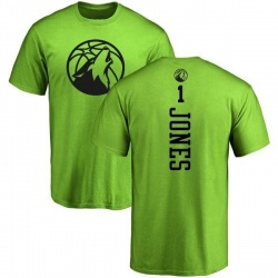 Youth Tyus Jones Minnesota Timberwolves Neon Green One Color Backer T-Shirt