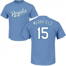 Youth Whit Merrifield Kansas City Royals Roster Name & Number T-Shirt - Light Blue