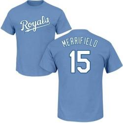 Youth Whit Merrifield Kansas City Royals Roster Name & Number T-Shirt - Light Blue