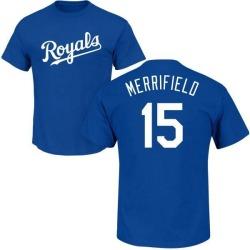 Youth Whit Merrifield Kansas City Royals Roster Name & Number T-Shirt - Royal