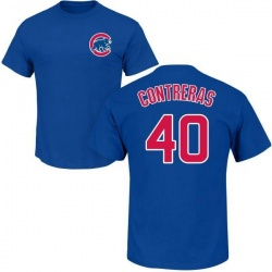 Youth Willson Contreras Chicago Cubs Roster Name & Number T-Shirt - Royal