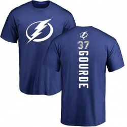 Youth Yanni Gourde Tampa Bay Lightning Backer T-Shirt - Royal